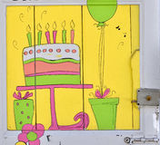 Birthday door Stock Image