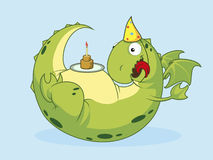 Birthday of a dragon. Vector illustration Royalty Free Stock Photography