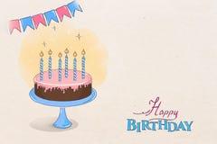 Birthday drawing Stock Photo