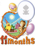 Birthday, elaven month for baby Stock Image