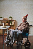 Birthday of elderly man Stock Images