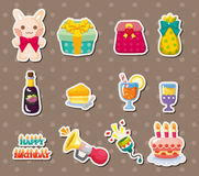 Birthday element stickers Royalty Free Stock Photography