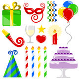 Birthday elements Stock Image