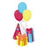 Birthday elements Stock Images