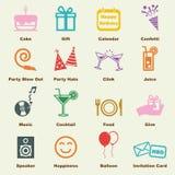 Birthday elements Royalty Free Stock Photo