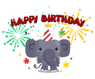 Birthday elephant Stock Image