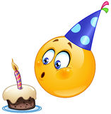 Birthday emoticon Stock Photography