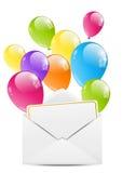 Birthday envelope Stock Images
