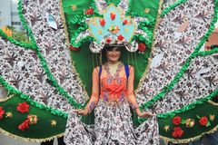 Surabaya indonesia. May 28, 2016. The flower parade commemorates the anniversary of the city of Surabaya. At the birthday event Surabaya held a flower parade royalty free stock image