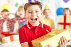 Birthday excitement Royalty Free Stock Photo