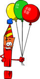 Birthday exclamation mark Stock Image