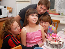 Birthday. A family. Royalty Free Stock Photos