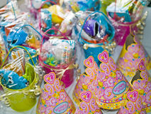 Birthday Favors for a Little Girl Stock Photos