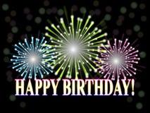 Birthday_fireworks Stock Image