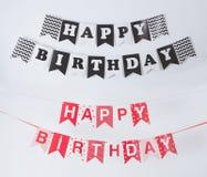 Birthday flag banner chain. Portrait of birthday flag banner chain decoration Royalty Free Stock Image