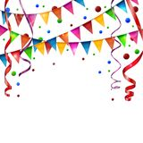 Birthday flags with ribbon Stock Image