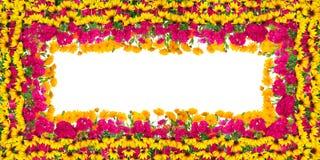 Birthday flowers frame Stock Images