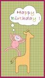 Birthday flyer Stock Image
