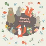 Birthday forest Royalty Free Stock Image