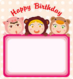 Birthday frame Stock Image