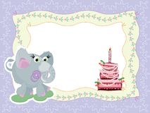 Birthday frame Stock Images