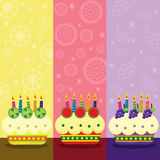 Birthday Fruits Cake Royalty Free Stock Image