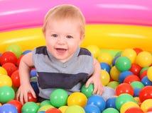 Birthday of fun boy in balls.