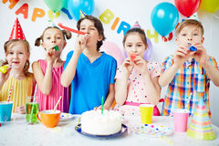 Birthday fun Stock Image