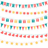 Birthday garlands Royalty Free Stock Image