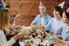 Birthday gathering stock photo