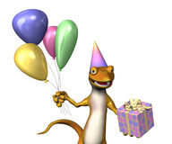 Birthday Gecko 2 Royalty Free Stock Photos