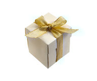 Birthday gift. With a bow Royalty Free Stock Images