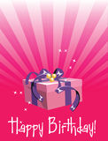 Birthday gift. Happy birthday gift for you Royalty Free Stock Photography