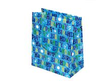 Birthday Gift Bag. Happy Birthday Gift Bag isolated on a white background Stock Photo