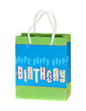 Birthday Gift Bag. Isolated on a white background Stock Image