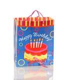 Birthday Gift Bag. On a white background Stock Photos