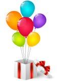 Birthday gift box Stock Photo