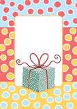 Birthday Gift Box Greeting Card stock images