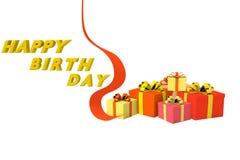 Birthday gift box Royalty Free Stock Photo