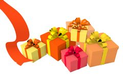 Birthday gift box Royalty Free Stock Photos