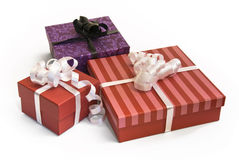 Birthday gift boxes Royalty Free Stock Photos