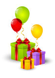 Birthday gift boxes Royalty Free Stock Photo
