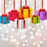 Birthday gift boxes Royalty Free Stock Image
