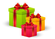 Birthday gift boxes Royalty Free Stock Photo