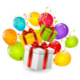 Birthday gift boxes Stock Image