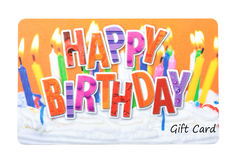 Birthday Gift Card. On a white background Stock Images