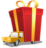 Birthday Gift On Delivery Truck Stock Image