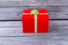 Birthday gift. Red box with a gift. Royalty Free Stock Images