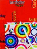 Birthday gift s background red and white colours. Birthday gift background red white colour colours stock photography
