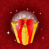 Birthday giftbox. Vector Illustration of birthday giftbox on the shiny background Royalty Free Stock Photos